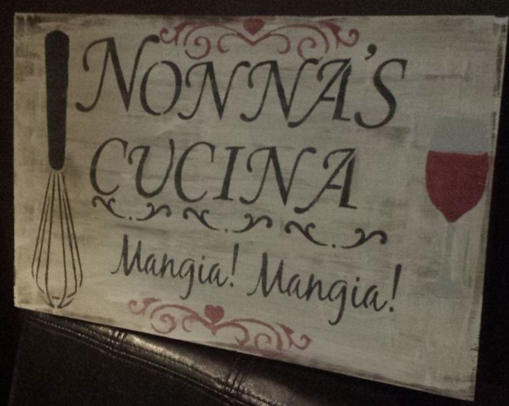 Nonna S Kitchen Table Mangia I Love A You Traced Elements