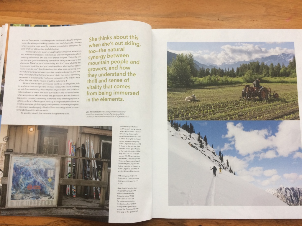 Pemberton farmers are featured as radical activists, balancing work with winter play, in Patagonia's latest journal.